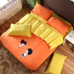 Wholesale Top Selling Bedding Sets - Wholesale-Top Selling 4 Pcs Bedding Sets Fashion Cartoon Home Textile Decoratioin Polyester Reactive Printing Bedding Set Sheet Cover