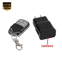 Wholesale Charger Spy Dvr - Remote Control 1080P HD Hidden SPY Camera USA EU Plug Charger Nanny Camera video Recorder Mini DV DVR Motion Detection