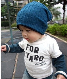 Wholesale Crochet Hat Colors - Hot 5 Colors Baby Kids Infant Toddler Beanie Hat Crochet Warm Winter Boys Girls Cap Family Mother and Son Daughter Children Acc K4696