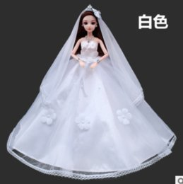 Wholesale Japanese Wedding Dolls - 2017 hot style Babe than dolls clothes handmade flowers wedding dress skirt Can be given to the baby when the Christmas or Halloween gift
