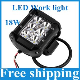 Wholesale Cree Led Motorcycle Driving Lights - Car Accessories LED Work Light Bar High Power Cree 18W 2160LM Auto LED Driving Light for Motorcycle Tractor Boat Off Road 4WD