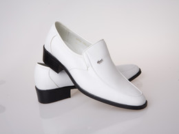 Wholesale Oxford Heels White - White Groom Wedding Shoes Man Breathe freely Leather Prom Shoes Business Dress Shoe Single shoes DY:768