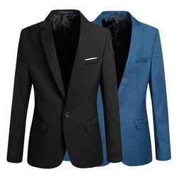Wholesale Sleeve Blazer Tops Jacket - 2015 Top Suit Jacket For Men Terno Masculino Suit Blazers Jackets Traje Hombre Men's Casual Blazer 2 Colors Size S-XXL
