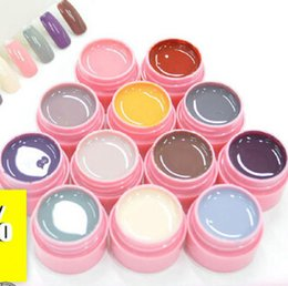 Wholesale Kit Nails Gel Led - 1lot 12color LED UV Gel Builder Cover Pure Soak Off Nail Art Tips Kit Natural Series 113-124 CANNI