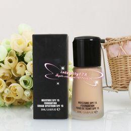 Wholesale Professional Liquid Foundation - Top Quality Professional Brand Makeup Studio Fix Fluid SPF15 Foundation 30ML NC15-NC40 liquid Concealer Free shipping