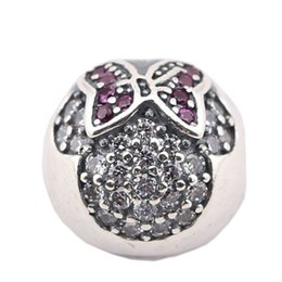 Wholesale European 925 Stopper Bead - European Pendant Silver 925 Safe Lock Beads Safety Stopper Beads Loose Positioning Button Charms Fit Pandora Charms Silver Original PW0007-1