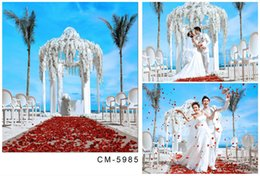 Wholesale White Vinyl Backdrops - 5X7ft White Grand Hotel New Camera Photos Studio Background Computer Printed Photography Vinyl Backdrops For Wedding Backdrop Backgrounds