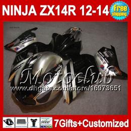 Argentina Plata negro 7gifts para KAWASAKI NINJA ZX14R 12-13 ZX-14R 12 13 12 13 ZX14 R 25C31 ZX 14R 2012 2013 2012 2013 ZX 14 R Carenado plateado negro supplier zx14 ninja kawasaki fairings Suministro