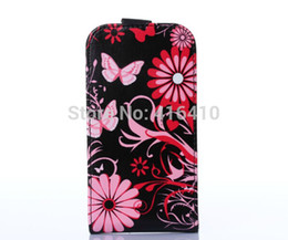 Wholesale S7562 Leather Case - Wholesale-Color Butterflies Leather Cell Phones CASE FOR Samsung Galaxy S Duos GT-S7562 S7562 S7560 Duos 2 S7582 Trend Plus S7580