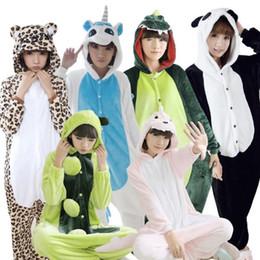 Wholesale Minion Pajamas For Girls - Christmas Warm adults flannel Pajamas for women girl cosplay Pijama animal Onesies Pyjamas Sets sleepwear Robe Panda Minion