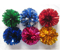 Wholesale Cheerleading Pompoms - pom poms Cheerleading 50g Cheering pompom Metallic Pom Pom Cheerleading products many colors for your choose