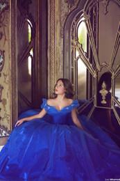 aschenputtel tüll abendkleid Rabatt Cinderella Blue Quinceanera Kleid Elegant Tüll Luxus Ballkleid Lang Ballkleider Flügelärmel Partykleid Blume Kristall Vestidos Longo