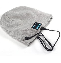Wholesale Hot Mini Top Hat - Hot Sale Bluetooth Music Beanies Winter Hat With Mini Wireless Speaker Bluetooth Receiver Amplifier Audio Music Speaker Smart Cap Headset