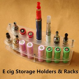 Wholesale Electronic Cigarettes Displaying - 10pcs lot Acrylic e cig display stand electronic cigarette display case holder rack for vaporizer ego battery E cigarettes mechanical mod