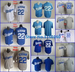 Wholesale Baby Blanks - 30 Teams- Top Sale 22 Clayton Kershaw Jersey Los Angeles Dodgers Blank Jersey Blue Grey White Baby Blue Brooklyn Dodgers Jersey Newest!!!