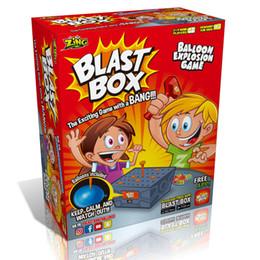 Amigos de escritorio online-Juego de Escritorio Blast Box Knock Box Tricky Toy Burst Balloon Funny Prank Family Friends Jugar Juguetes Regalo Creativo Regalo de Navidad al por mayor