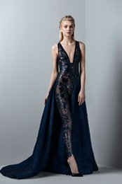 56ca8fa2022 designs unique evening gowns Promo Codes - Deep V Neck Black Jumpsuit Sexy  Design Luxury Prom