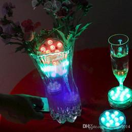 Wholesale 16 Vases - RGB Multi colors Remote control 16 colors Submersible LED light, LED vases base light for wedding celebration
