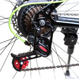 Wholesale Wholesale Bike Hanger - Black Bicycle Rear Derailleur Hanger Chain Gear Guard Protector Cover Mountain Bike Cycling Transmission Protection Iron Frame