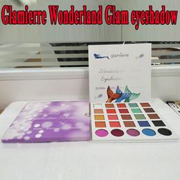 Wholesale Corrector Palette - In stock Glamierre Wonderland Glam Eyeshadow Palette 25 Color Mermaid Glitter Matte Shimmer Eye Shadows Palette DHL Free