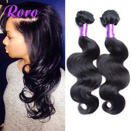 Wholesale Bella Weave - 7A Peruvian Malaysian Indian Virgin Human Hair Extensions Dyeable Natural Color Hair Bundles Body Wave Human Hair Weave Double Weft Bella