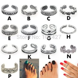Wholesale Antique Picking - Women Lady Elegant Adjustable Antique Silver Metal Toe Ring Foot Beach Jewelry 13 Style U Pick