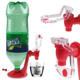 Wholesale coke dispensers - Wholesale- The Magic Tap Saver Soda Dispenser Bottle Coke Upside Down Drinking Water Dispense Party Bar Kitchen Gadgets Drink Machines