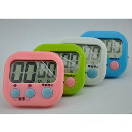 Wholesale Digital Count Up Down Timer - 103 Electronic timer Digital timer Kitchen Timer 100 Minutes Counter Count Up Down Magnetic Large LCD Display 4 colors