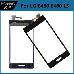Wholesale Lg L5 Black - New Black Glass Panel Lens Touch Screen Digitizer For LG Optimus L5 II 2 E460 E450 Replacement Parts