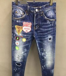 Wholesale Baggy Jeans Fashion Men - Wholesale-WINTER Mens baggy Cargo Jeans Multi-pocket denim loose pants Hip Hop Skateboard jean trousers retro Denim Overalls 71803