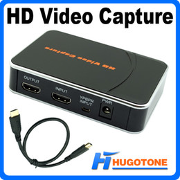 Wholesale Hd Software - HD 1080P Video Capture HDMI YPBPR Game Capture Recorder Box for XBOX One   360 PS3 WII U with Professional Edit Software