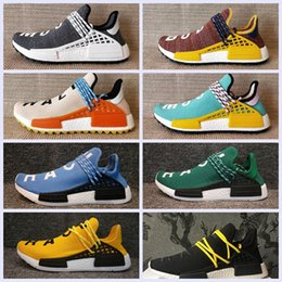 Wholesale Womens Size 12 Flat Shoes - 2018 Big size NMD HUMAN RACE Trail boost Mens Running shoes nmds Hu ultra boosts yellow black white womens Sport sneakers US 5-12