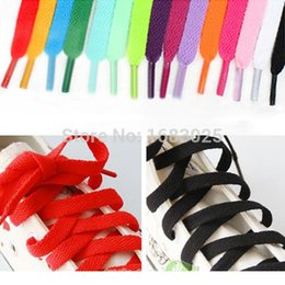 Wholesale Sole Skate - Brand New Flat Coloured Shoe Laces Bootlaces Trainers Skate Strong Shoelaces 29 Colours