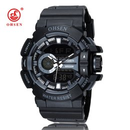 Wholesale Ohsen Military Watch - 2015 OHSEN Brand New Men Military Sports Watches Digital LED Quartz Watch Outdoor Casual Dress Wristwatches Relogio Masculino