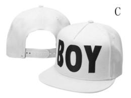 Wholesale london boy hat - Free shipping BOY LONDON Snapbacks Embroidered logo Adjustable Cap Men & Women Classic Baseball Cap Casual Hat
