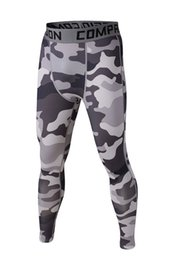 Wholesale Men S Camo Underwear - Wholesale-2015 fashion sport men underwear camouflage compression pants tights Basketball Running camo Base Layer fitness jogging Trousers