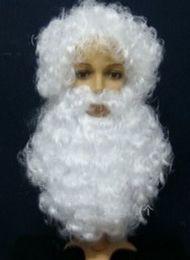 Noel Yortusu erkekler Noel Baba peruk + sakal takım April Fools 'Day kostüm topu Noel Baba ücretsiz kargo cheap santa suits nereden santa takımları tedarikçiler