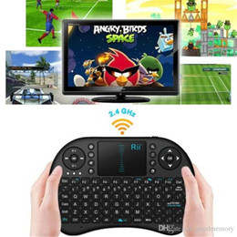 Wholesale White Keyboard Mouse Combo - 2.4G Touch Fly Air Mouse Black&White Portable Rii Mini i8 Wireless Keyboard Mouse Combo Touchpad PC