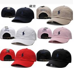 Wholesale Polo Ball Caps - 2017 New Style bone Curved visor Casquette baseball Cap women gorras Bear dad polo hats caps for men hip hop Snapback Caps High quality