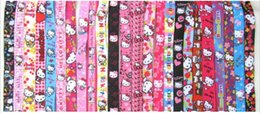 Wholesale Kitty Cell Phone - New 50 Pcs Hello Kitty cell phone charms   Key Chains Neck Strap Keys Camera ID Card Lanyard Free Shipping