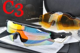 Wholesale orange coats for boys - Top quality 5 lens RadarEV Pitch Polarized sun glasses coating sunglass for women man sport sunglasses riding glasses Cycling Eyewear uv400