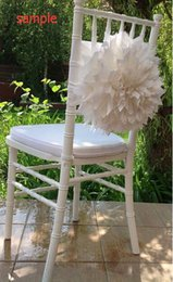 Wholesale Black Chair Cover Sashes - 2015 Ivory Big 3D Flowers Chair Sashes Chair Covers Sample Link 09