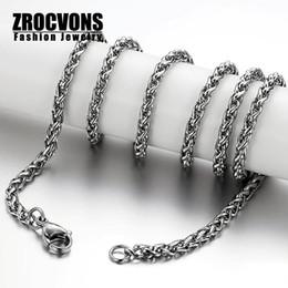 Wholesale Black Curb Chain Necklace - Wholesale-Black Curb Cuban Chain Necklace Stainless Steel Necklace Mens Boys Chain Necklace Wholesale Jewelry
