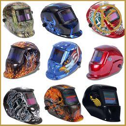 Wholesale Weld Mask - Wholesale-Eagles leaves beauty skull girl black red New Pro Solar Auto Darkening Welding Helmet Arc Tig Mig Mask Grinding Certified