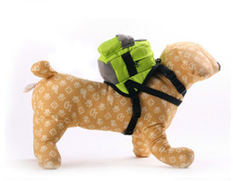 Wholesale Black Pomeranian - Cute cartoon dog small traction traction rope Teddy mini portable backpack go out Bichon Pomeranian dogs with Teddy traction rope backpack