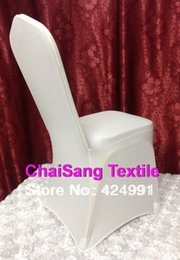 Wholesale Discount Wedding Chairs - Big Discount &Cheapest 100pcs White Lycra chair cover, Spandex chair cover for Wedding Events&Party Decoration