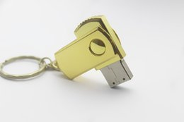 Wholesale Flash Key - Promotion Swivel metal Key USB Flash Drive 64GB Memory Stick USB 2.0 Pen Drives custom logo Retail package free DHL 100pcs