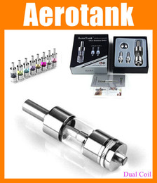 Wholesale Ce4 Ce5 Coils - Aerotank E Cig Atomizer Dual Coil Airflow Control Clearomizer kanger Aero tank Mega pk eGo CE4 CE4+ CE5 CE6 fit Vision Spinner 2 AT005
