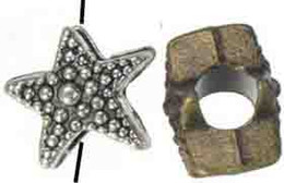 Wholesale Metal Ocean - Jewelry Accessories Spacer Beads Pandora Charms Bracelets DIY Large Hole Ocean Animal Starfish Silver Metal Free Ship Fashion 11mm 100pcs
