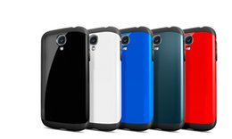 Wholesale Plastic S4 - 100PCS Armor Shockproof Case Cover for Samsung Galaxy s4 i9500 s5 i9600 S6 Edge Plus G9200 Note 3 4 5 with Retail Package
